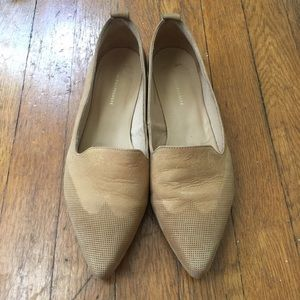 Anthropologie Tan Suede Western Boho Pointy Shoes